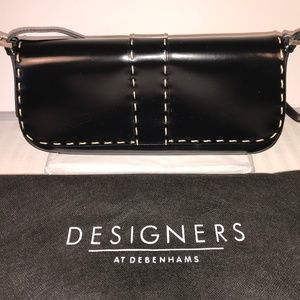 Authentic Jasper Conran polished leather handbag